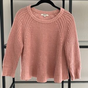 Madewell cropped style knit sweater